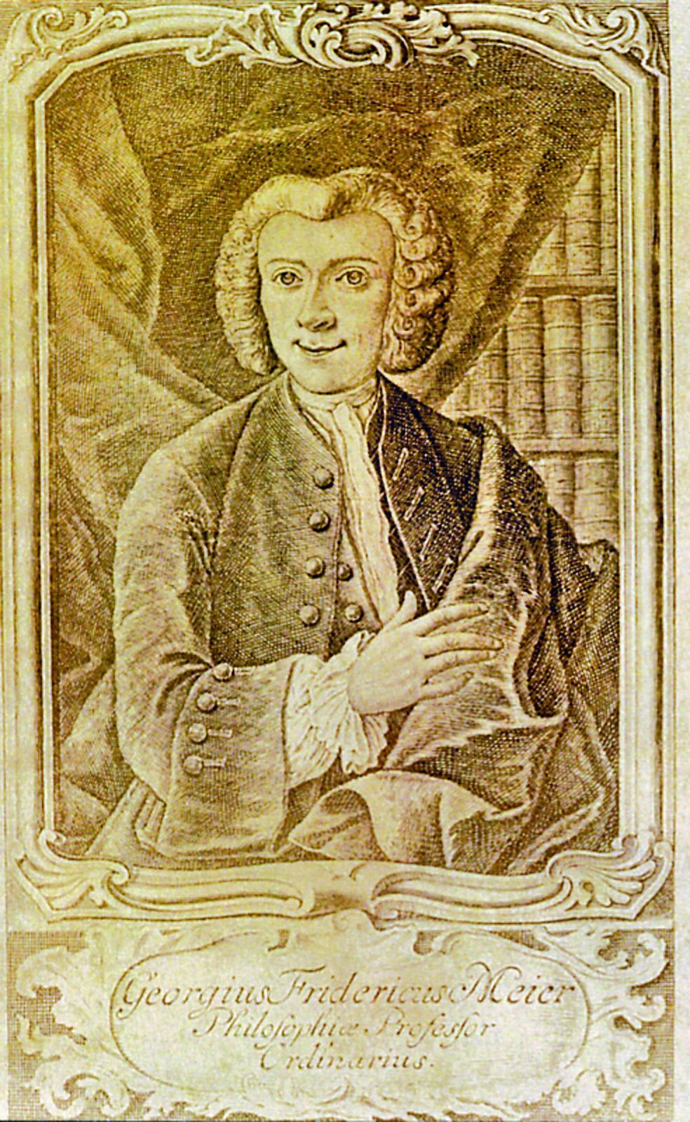 Prof. D. phil. Georg Friedrich Meier (ca. 1817)