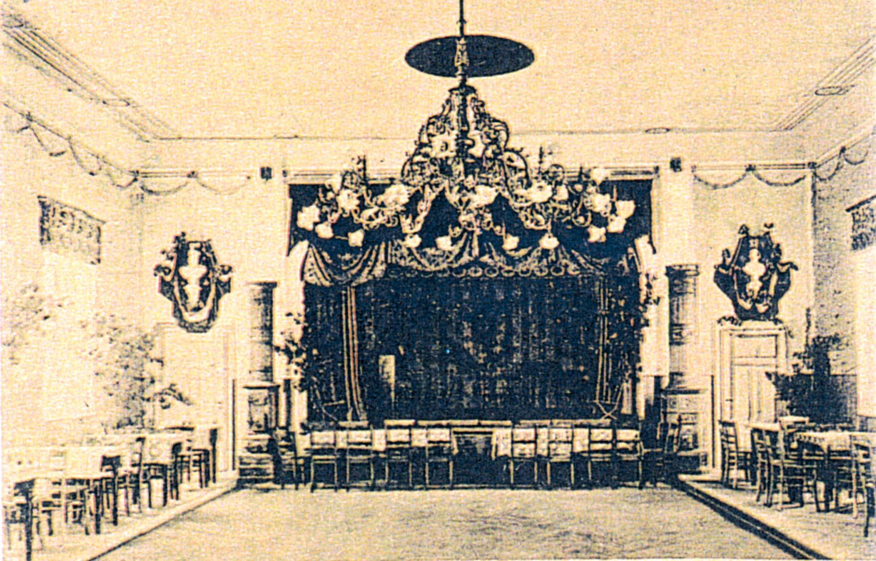 1890-1900, Saal in der Broihan-Schenke von Bernhard Schunke