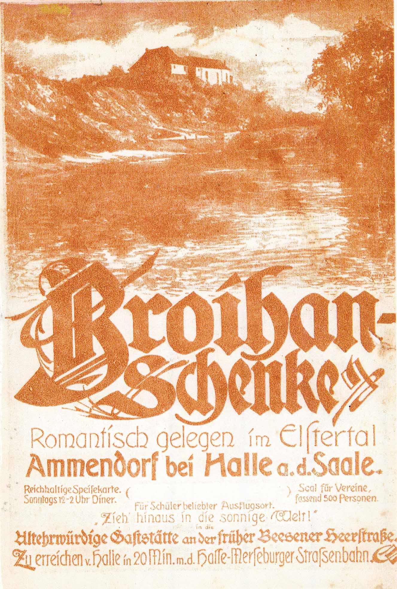 Broihan-Schenke Heinichen, Romantisch gelegen im Elstertal.